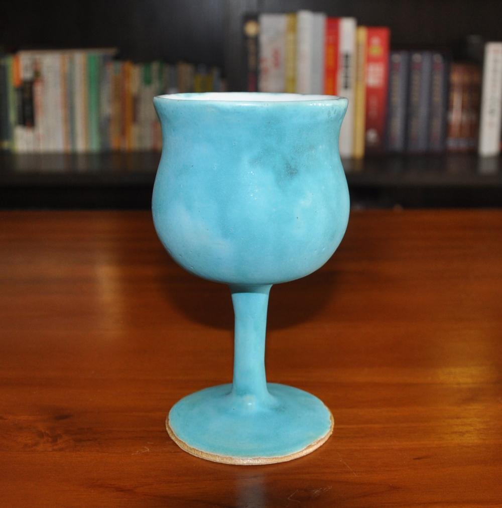 blue wonder wine goblet