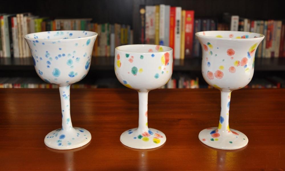 colour crystal wine goblet