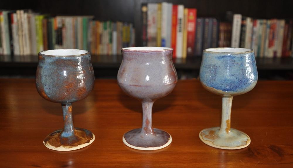 galaxy wine goblet