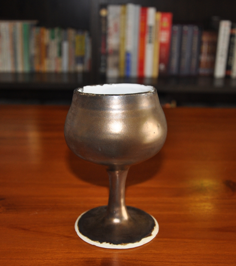 gold wine goblet