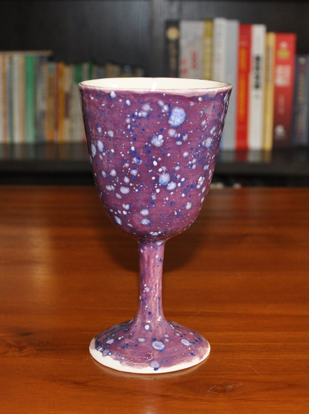 purple fanstasy wine goblet